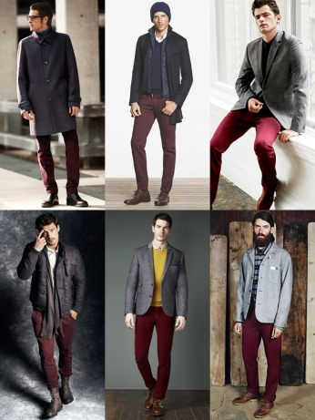PERSONAL MEN'S STYLING: HOW TO WEAR BURGUNDY TROUSERS (6 DIFFERENT WAYS)